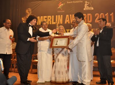 International Merlin Award presented to Magician Muthukad