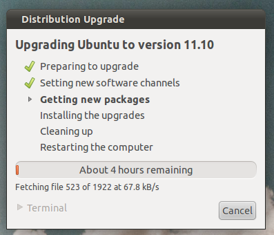 How To Upgrade From Ubuntu 11.04 To Ubuntu 11.10