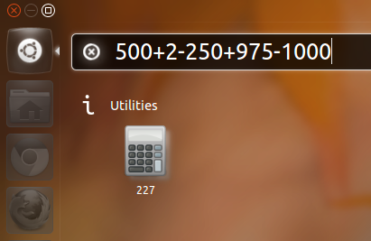 Unity Dash-based Calculator for Ubuntu