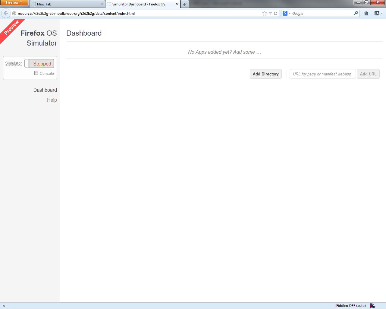 Firefox mobile Add-on Window
