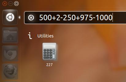 Unity Dash-based Calculator for Ubuntu